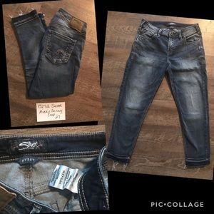 Silver Avery Skinny Crop Jeans